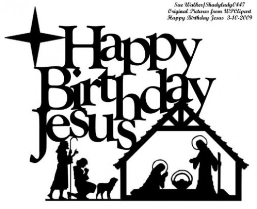 Happy birthday  black and white happy birthday jesus clip art birthday jesus