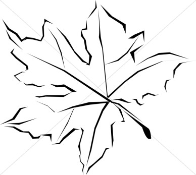 Leaf  black and white fall leaves clip art black and white 9