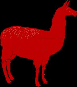 Llama clip art at vector free image