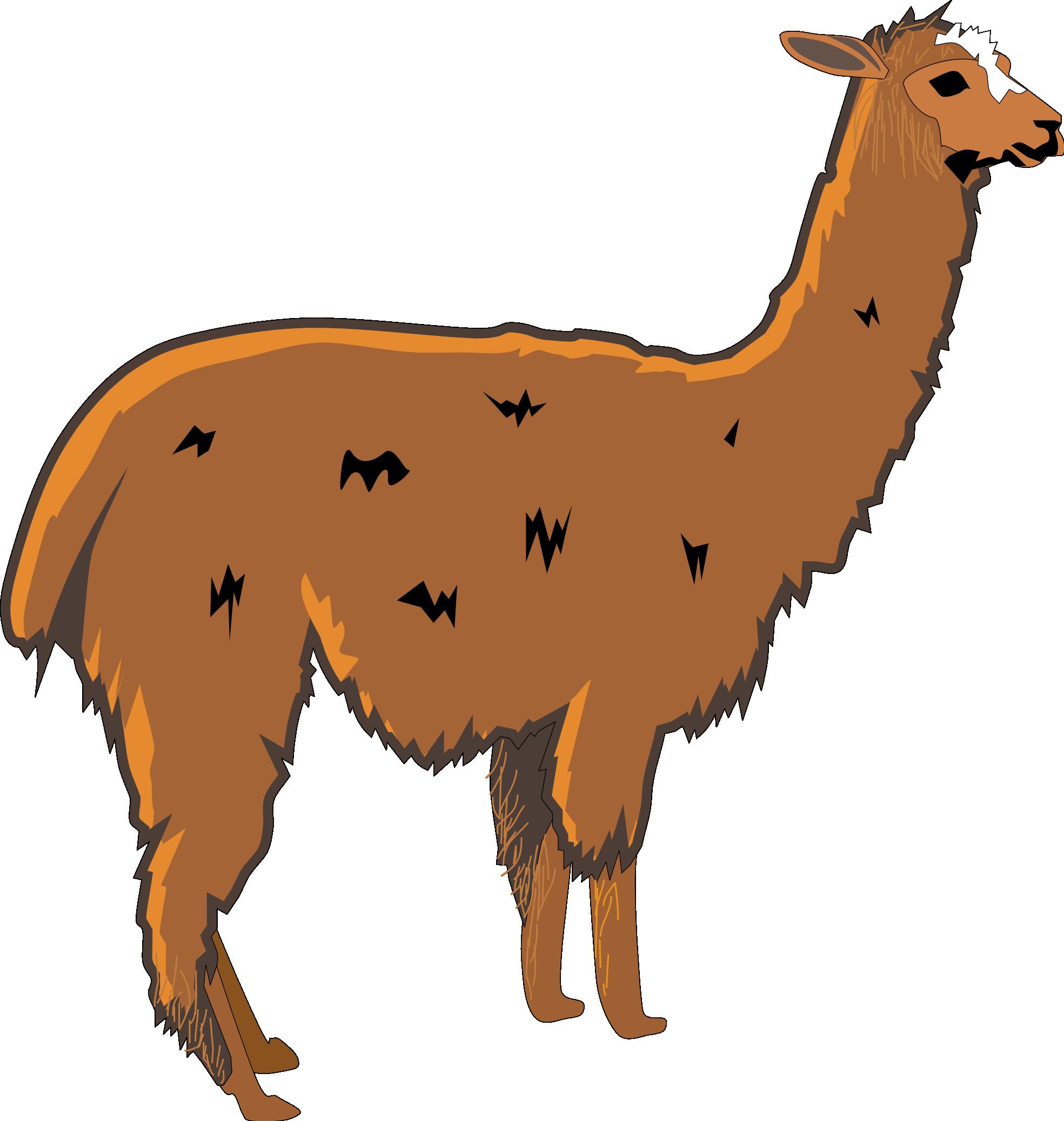 Llama clip art cartoon free clipart images 3