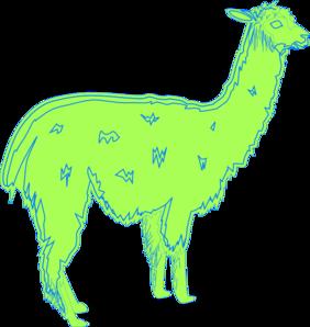 Llama clipart 8
