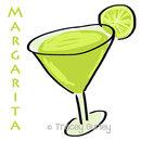 Margarita illustration original art digital download margarita clip art