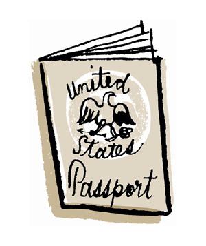 Passport clip art free clipart images 2