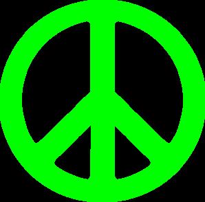 Peace sign art clipart image 3