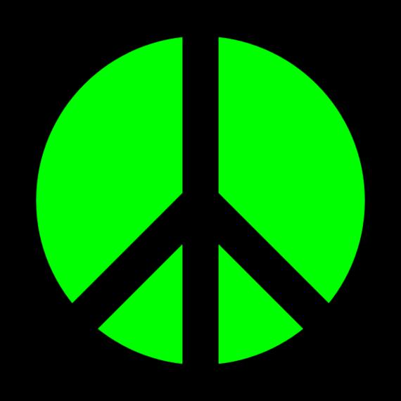 Peace sign art clipart image 4