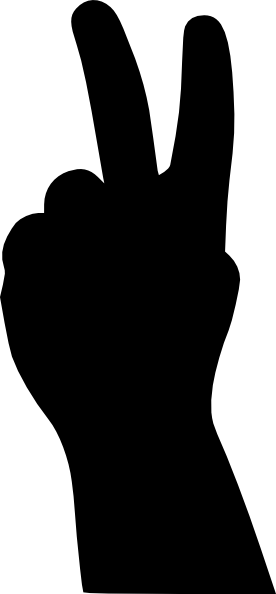 Peace sign clip art at vector clip art
