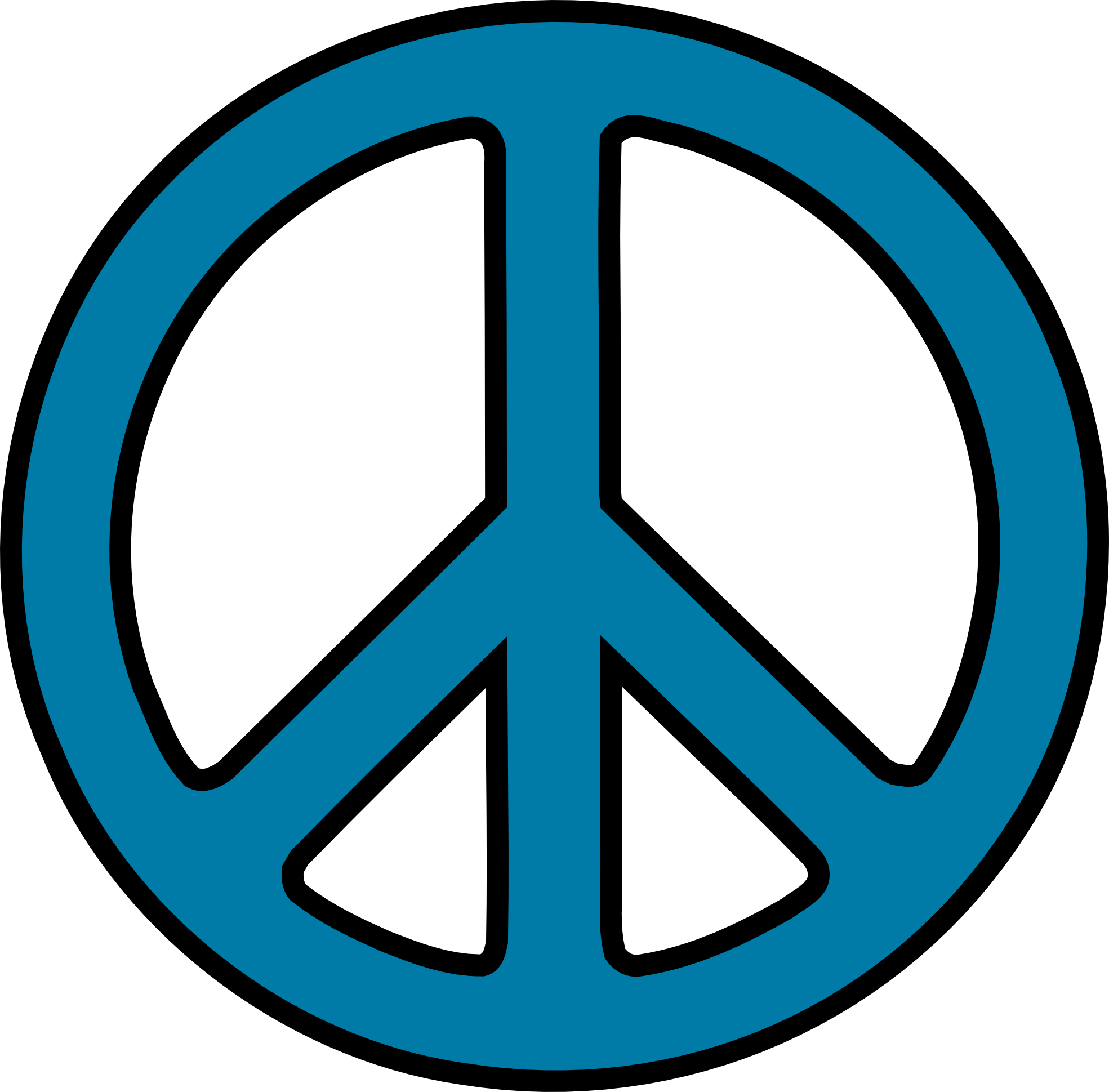 Peace sign clip art black and white free clipart 2