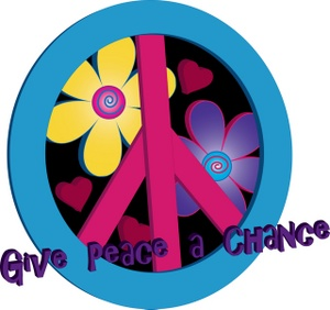 Peace sign clipart image psychadelic
