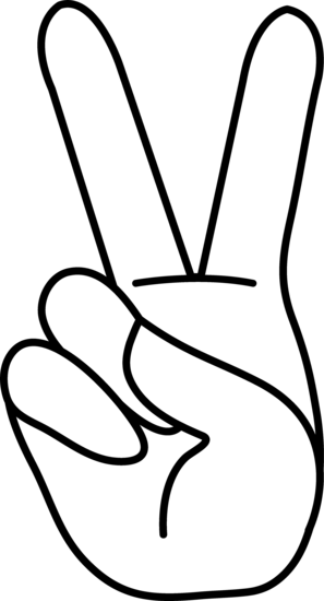 Peace sign peace hand sign line art bodies 2 and clip art