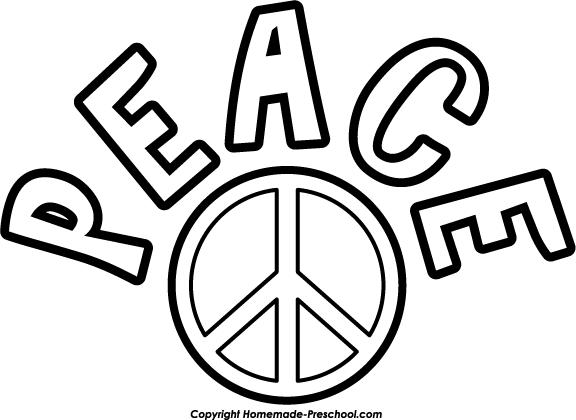 Peace sign world peace clip art