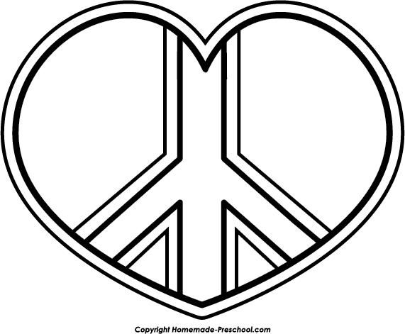 Peace sign world peace clipart