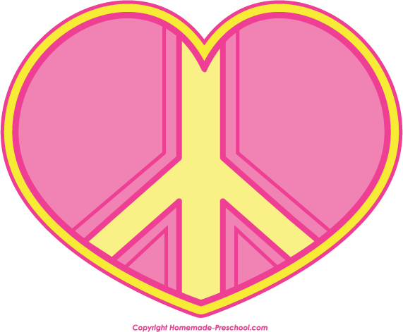Pink peace sign clipart free images 2