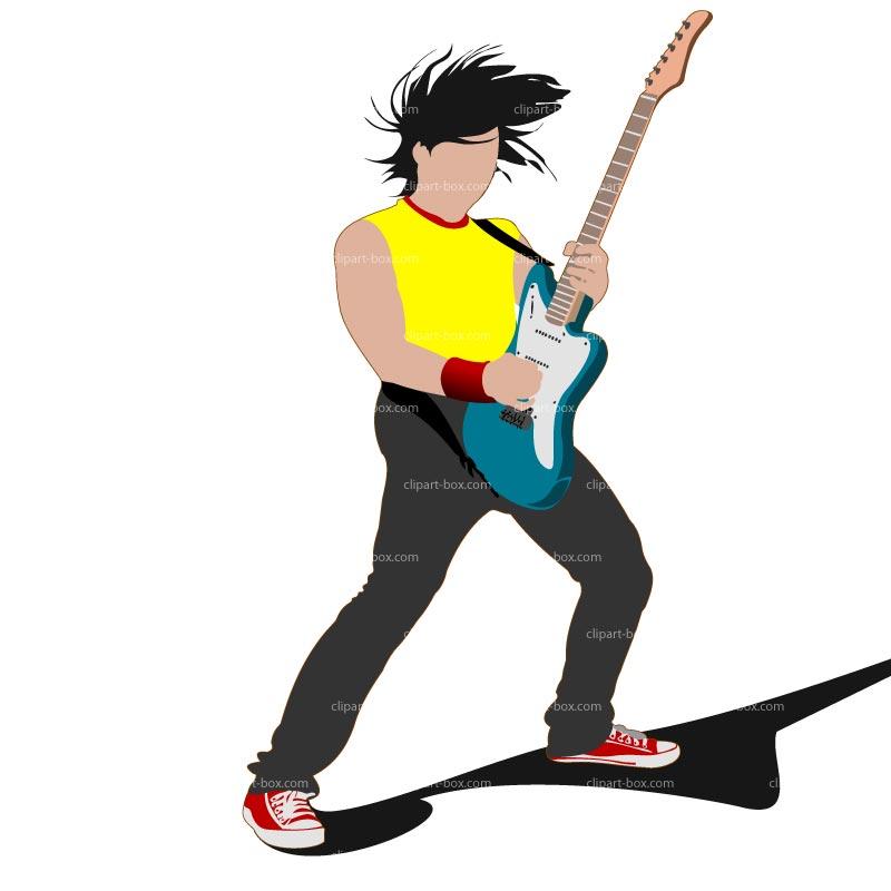 Rock guitar clip art free clipart images 3