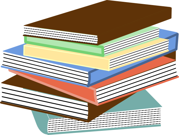 Stack of books clip art at vector clip art