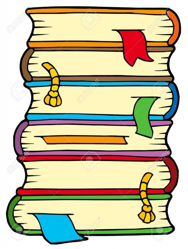 Stack of books clipart google search clip art doodling inside