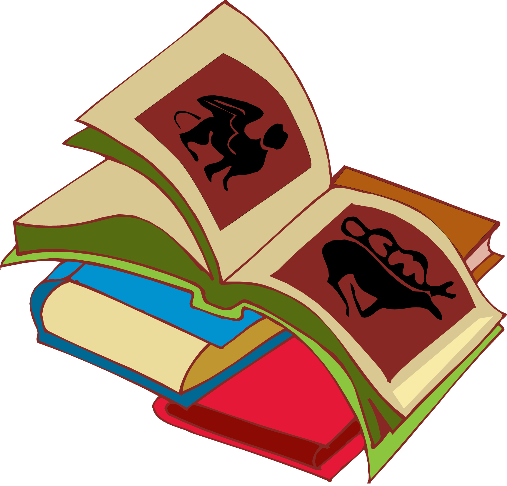 Stack of books image stack clipart school book clip art 5