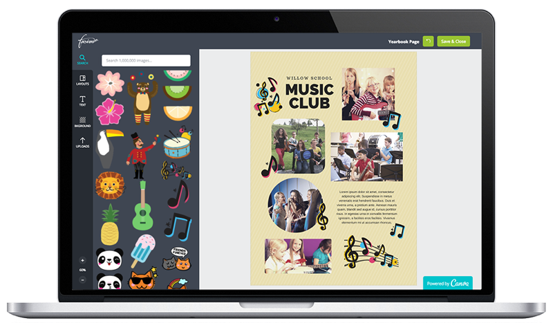 Add yearbook clipart images to spice up your pages fusion yearbooks 2