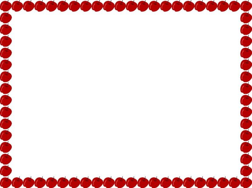 Apple border clip art 2