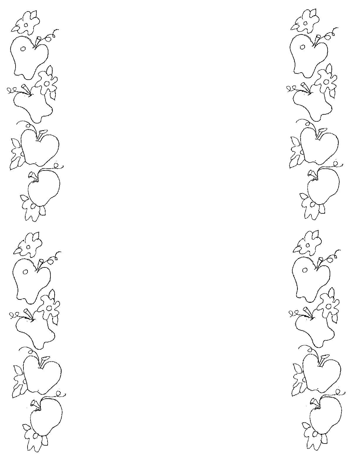 Apple border clip art 4