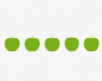 Apple border clip art 5