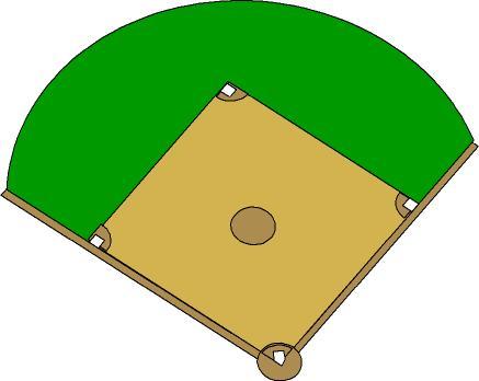 Baseball diamond baseball field clip art 8