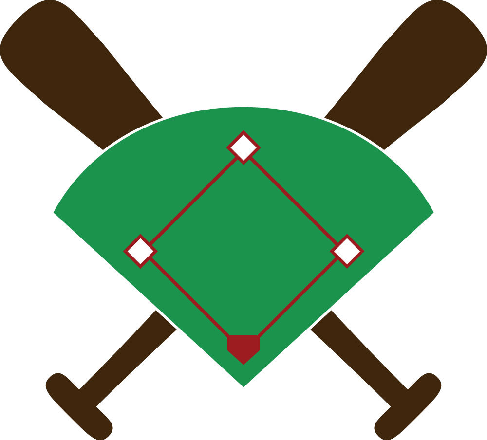 Baseball diamond baseball field clip art
