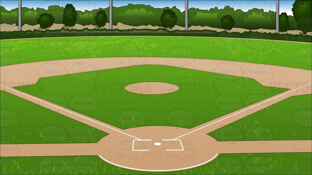 Baseball diamond baseball field clipart clipart 2