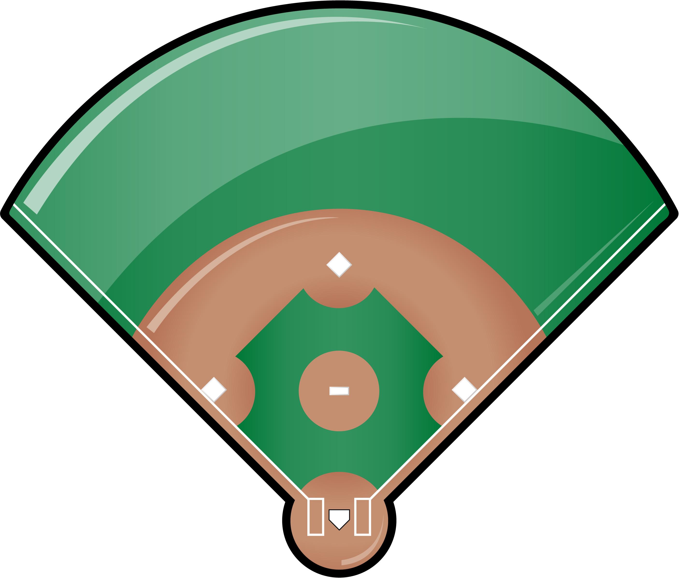 Baseball diamond baseball field clipart free images