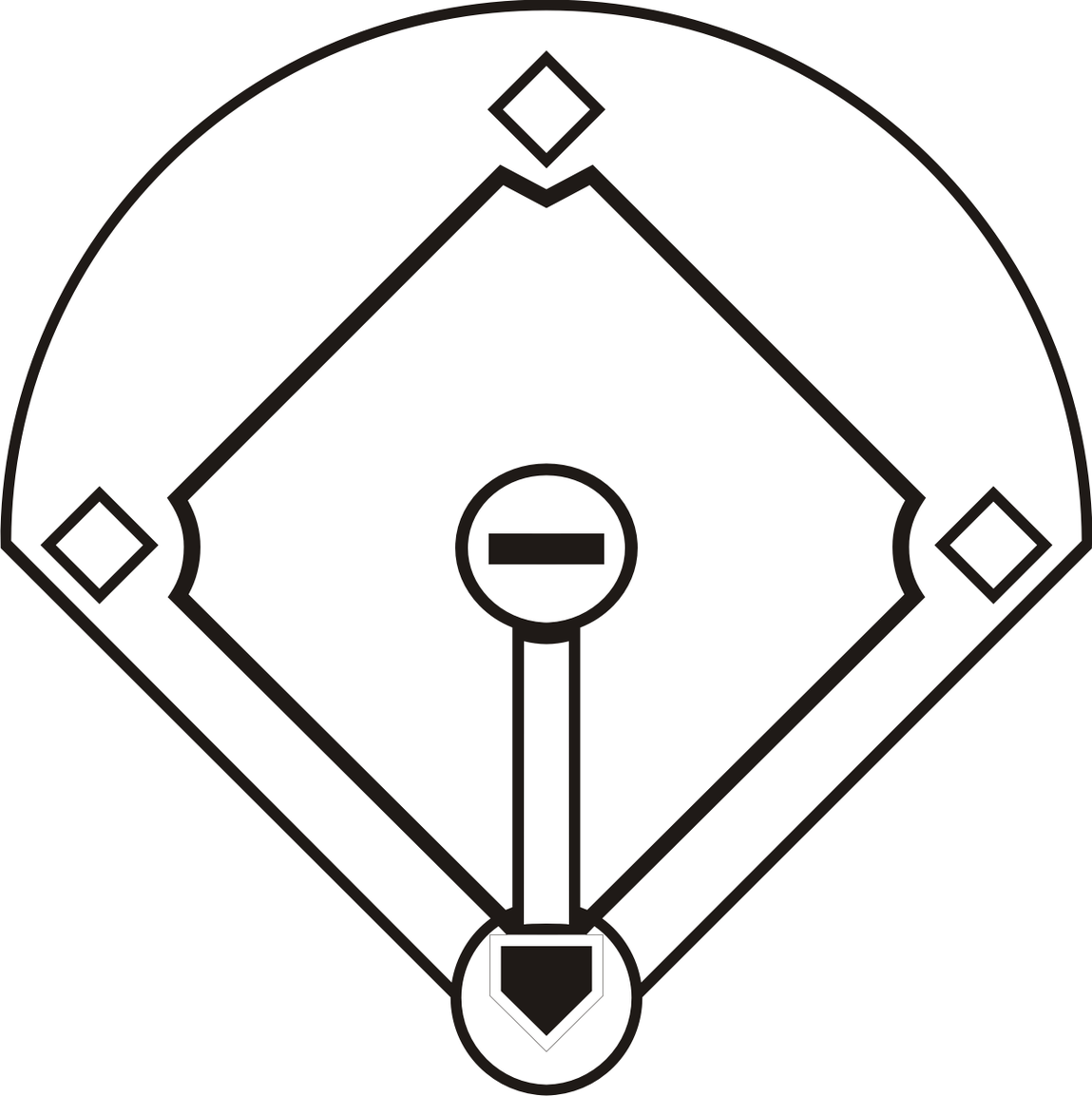 Baseball diamond clipart images 3