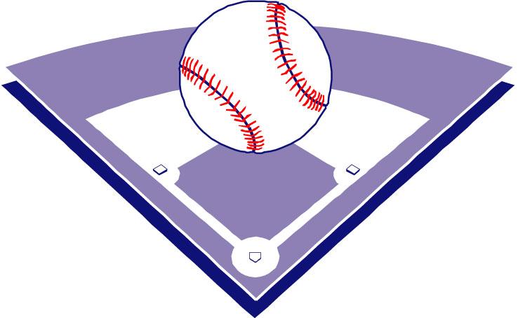 Baseball diamond purple softball cliparts free download clip art