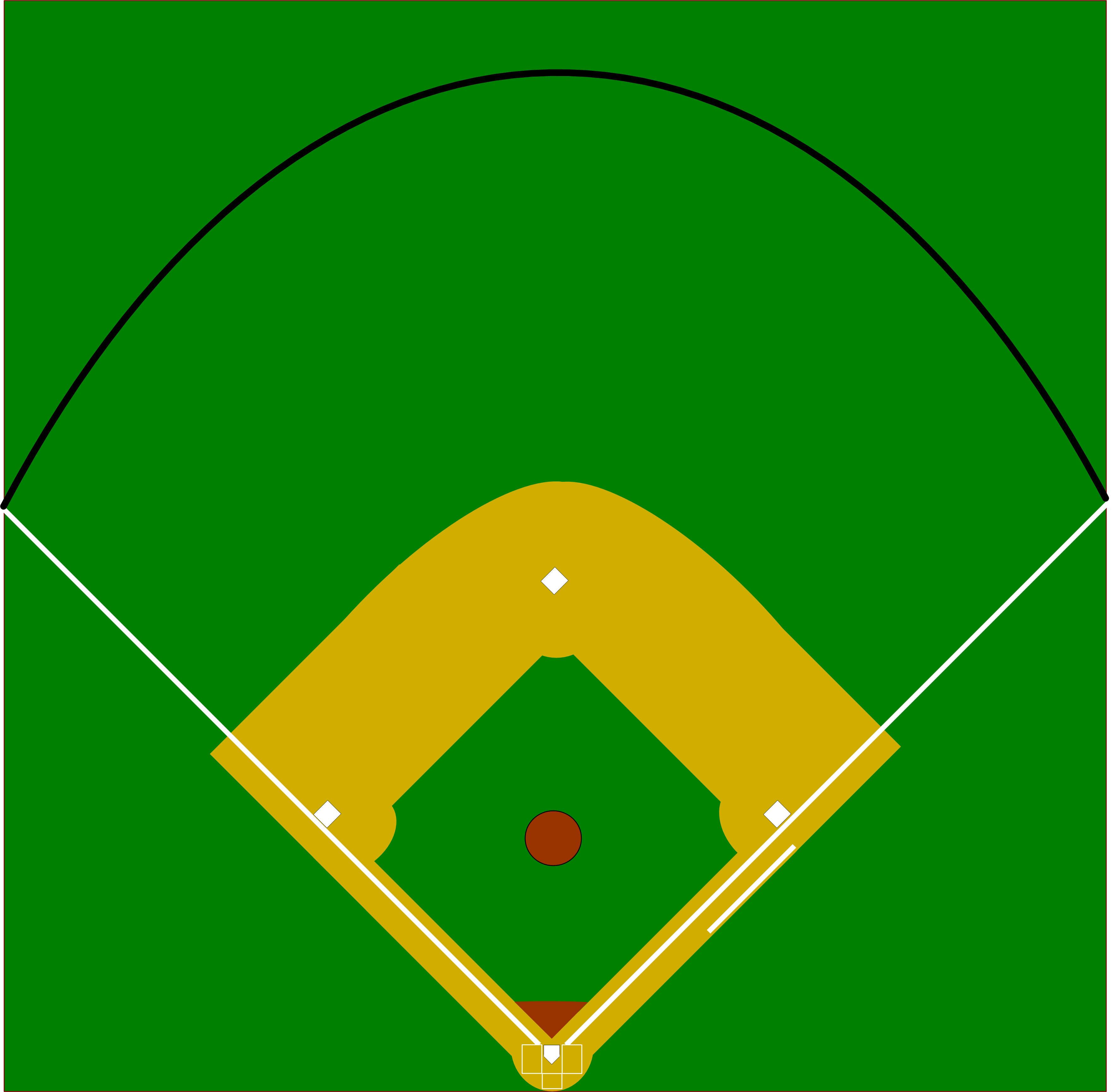 Baseball diamond vector clip art library
