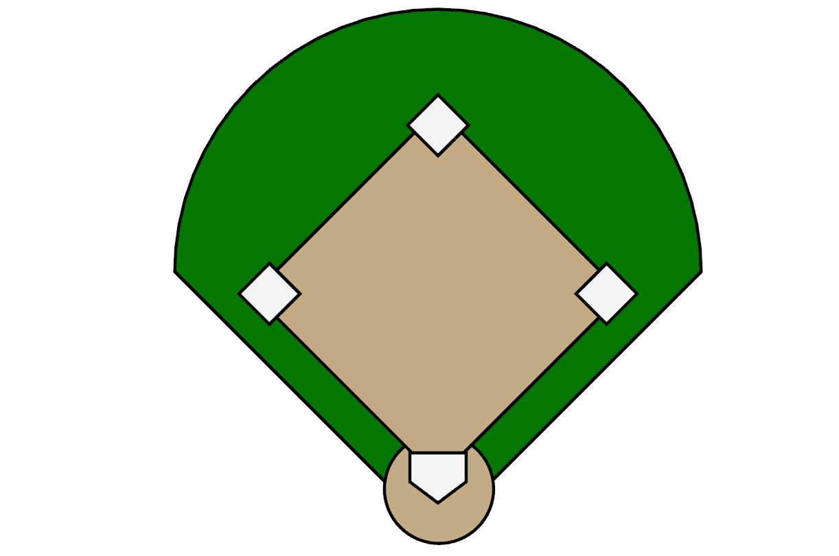 Baseball field baseball diamond clipart 2 clipart