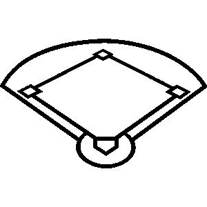Baseball field baseball diamond clipart clipart