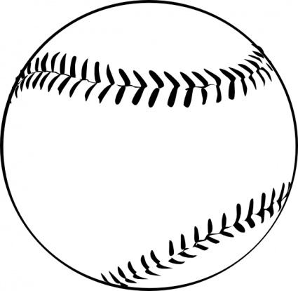 Black and white baseball diamond clip art library 2