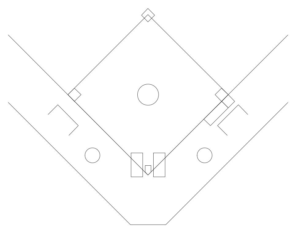Black and white baseball diamond clip art library