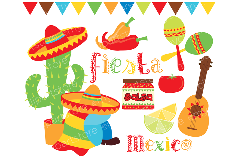 Cinco de mayo mexico fiesta time vector premium and clip art