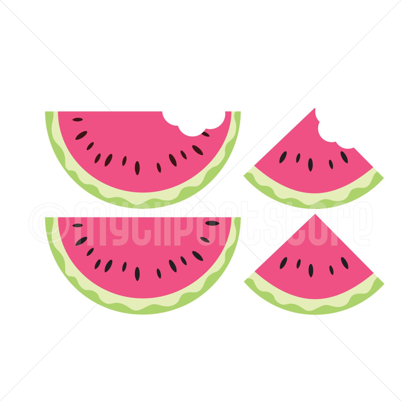 Clipart single juicy watermelon slices fruit