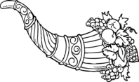 Cornucopia clip art 2 clipart