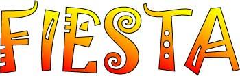 Fiesta word clipart