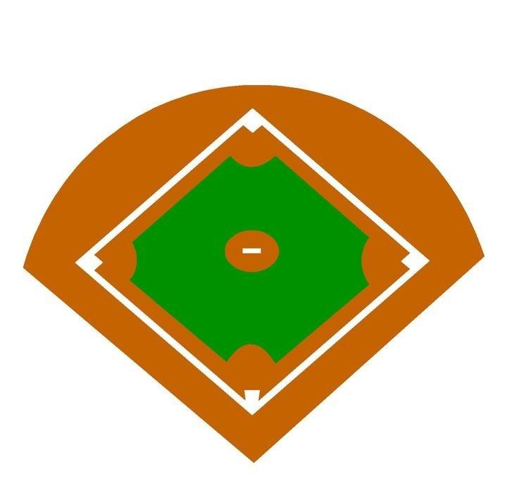 Free baseball diamond clipart