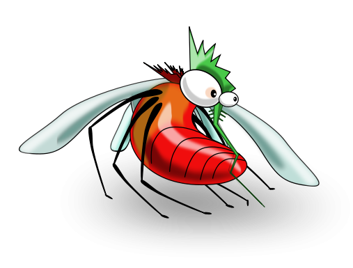 Free funny clip art cartoon mosquito