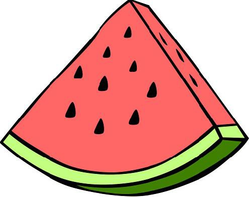 Seedless watermelon slice clipart free