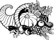 Thanksgiving free clip art cornucopia clipart