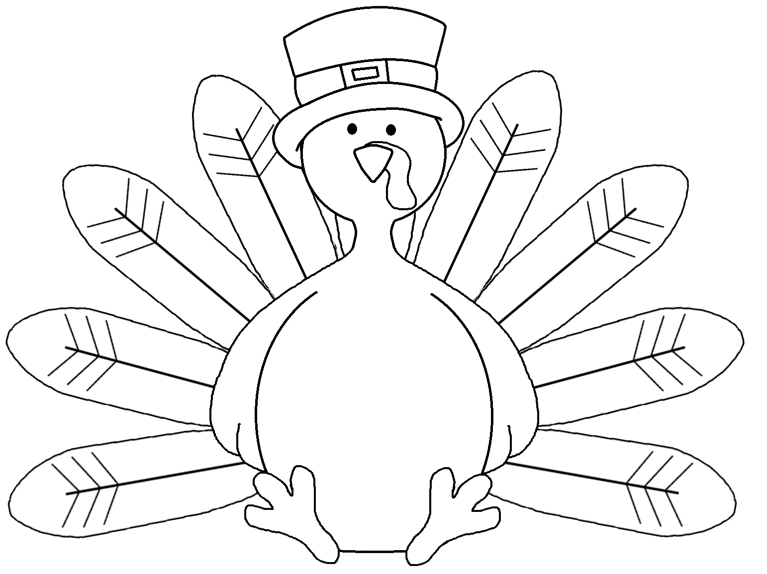 Turkey feather featherless turkey coloring page pages for kids 7 clip art