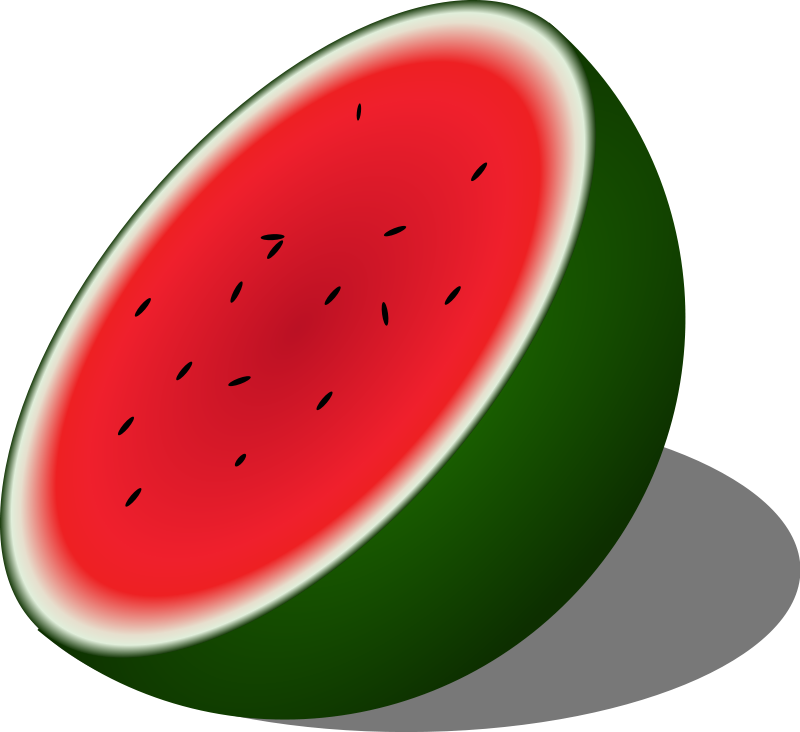 Watermelon free a watermelon slice clipart
