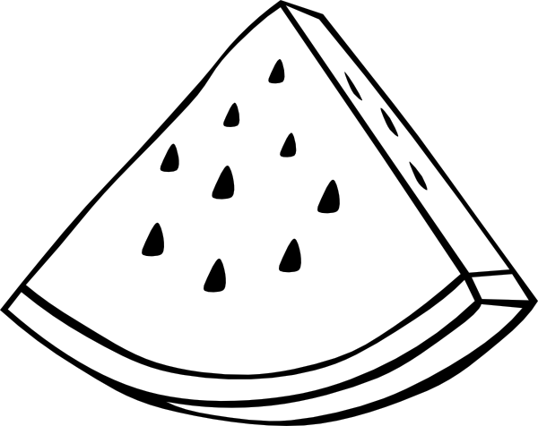 Watermelon slice clipart black and white collection