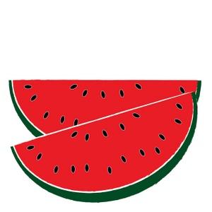 Watermelon slice clipart black and white free