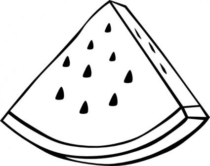 Watermelon slice outline clipart
