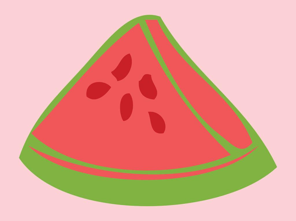 Watermelon slice vector art clip art