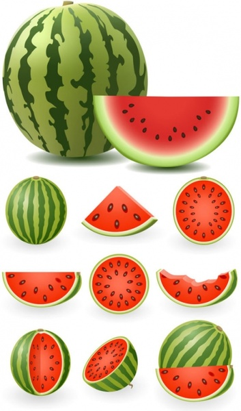 Watermelon slice watermelon free vector download free formercial clip art